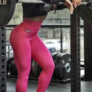 BETTER BODIES Bowery High Tights Hot Pink Sz XS